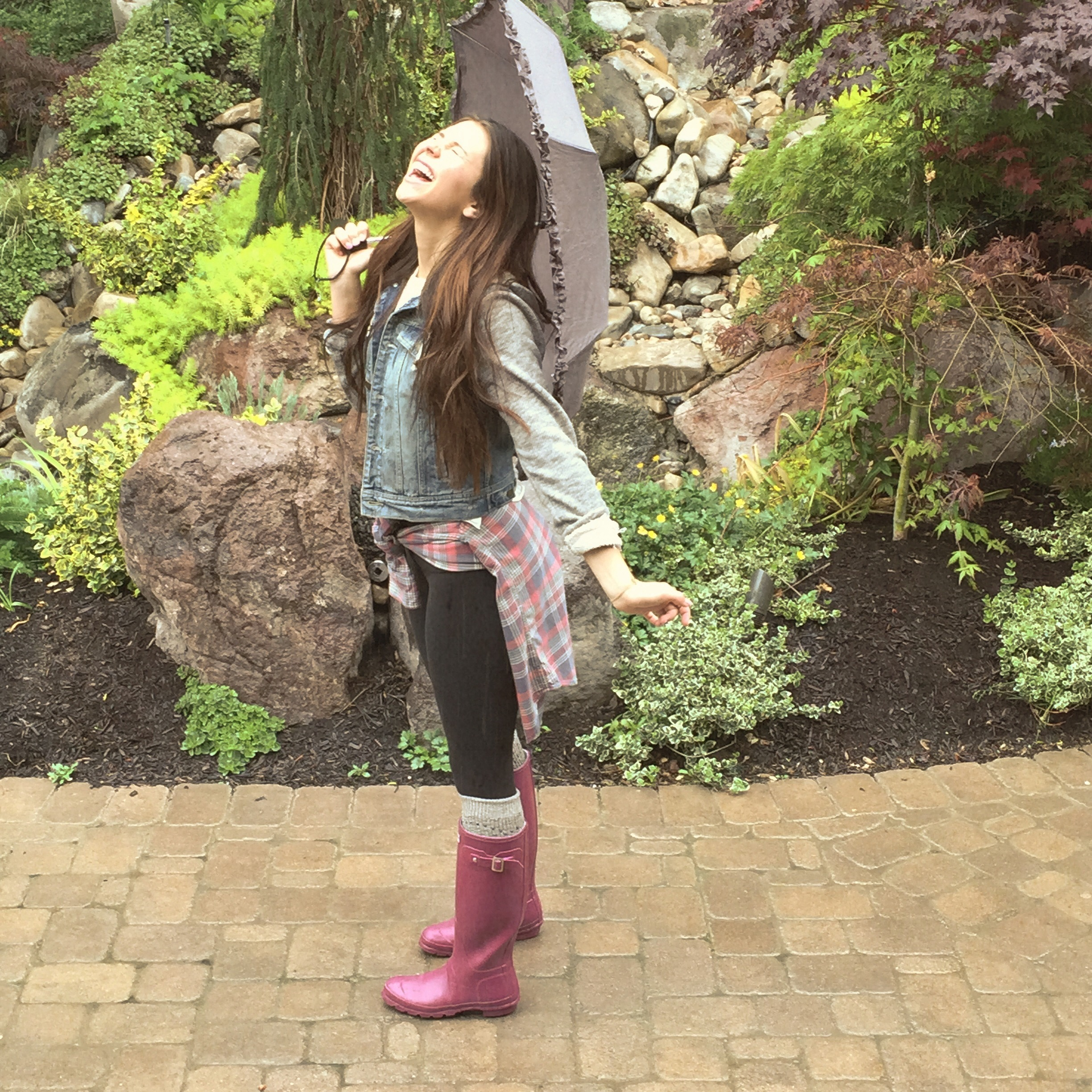 Tatum Chiniquy love always rainy day outfit2