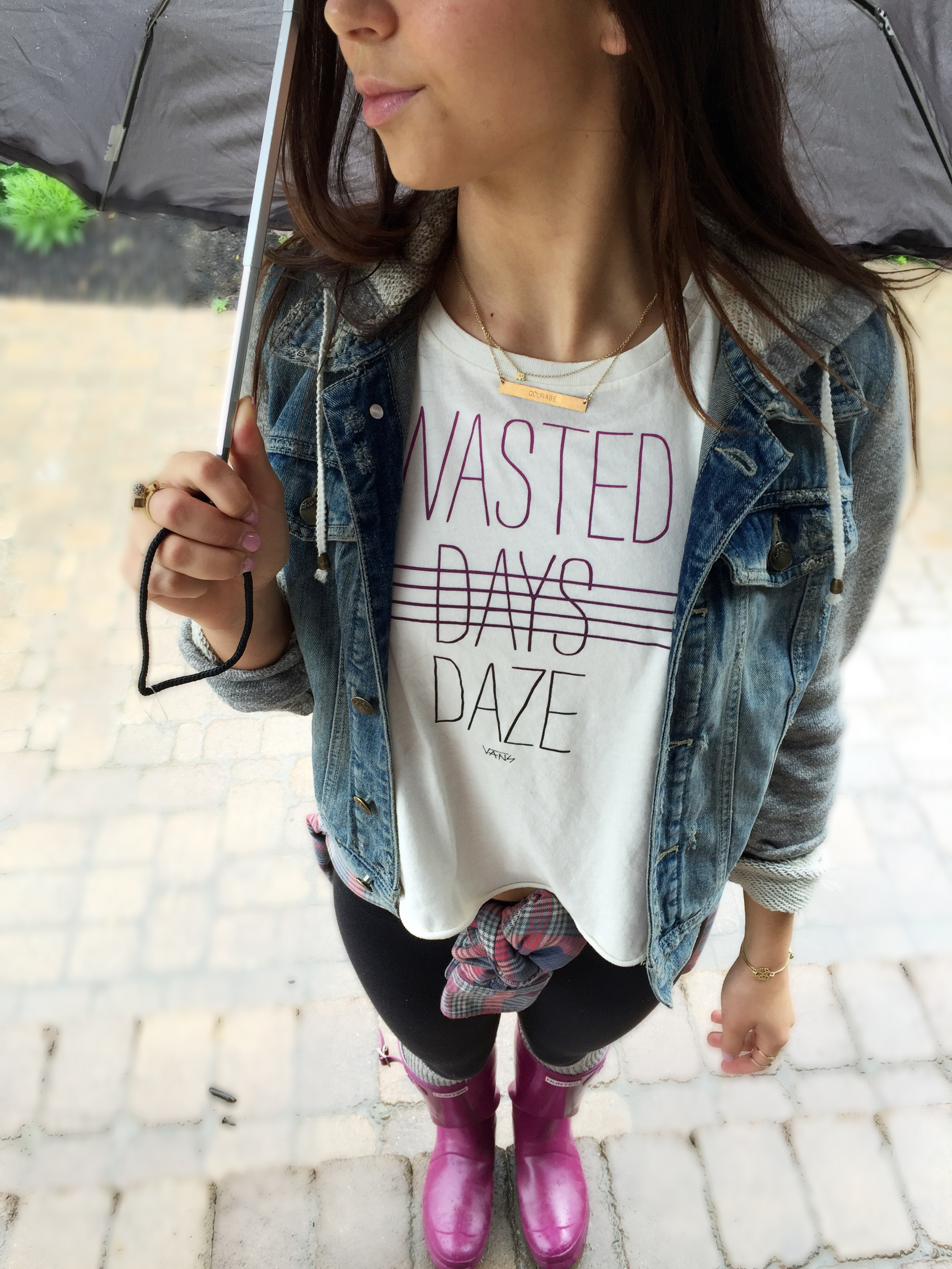 Tatum Chiniquy Love always Rainy day outfit